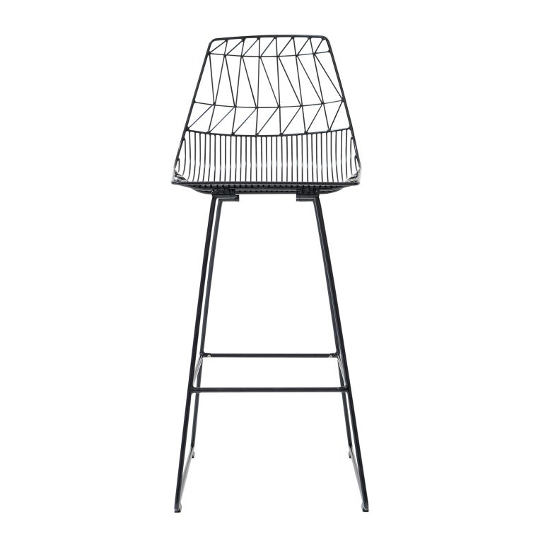 The Lucy bar stool elevates the bar experience. Stunning in a commercial setting or as an accent to a home bar, this Mid-Century Modern inspired wire bar stool is durable and customizable with metallic finishes, stainless steel, or a variety of