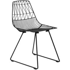 Mid-Century Modern, Minimalist Wire Chair, the Lucy Chair in Black by Bend Goods