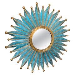 Mid-Century Modern Mirror by Los Hermanos Mejía, Taxco