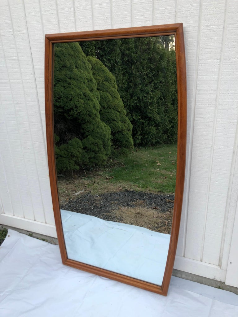 Large Mid-Century Modern Mirror For Sale 5