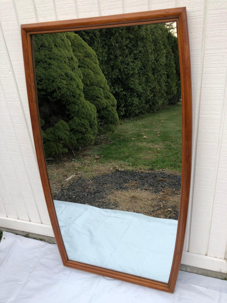 Large Mid-Century Modern Mirror For Sale 7