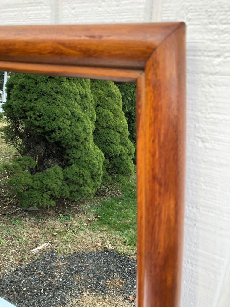 Wood Large Mid-Century Modern Mirror For Sale