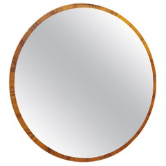 Mid-Century Modern Mirror in Wood and Bronzed Glass, Italian Design, 1970s
