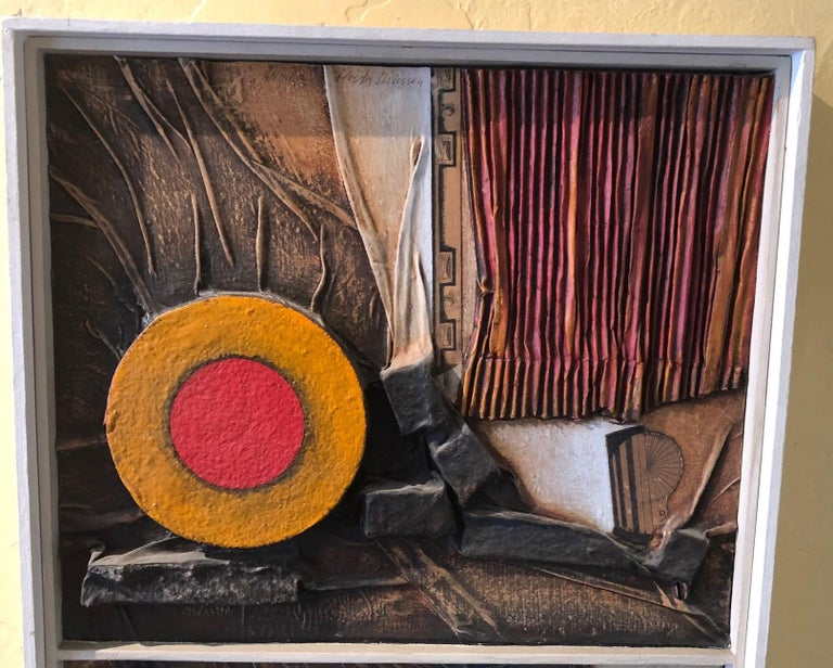 20th Century Mid-Century Modern Mixed Media Three Dimensional Abstract by Angela Kosta For Sale