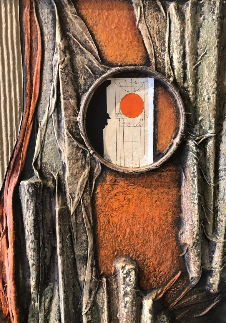 Plywood Mid-Century Modern Mixed-Media Three Dimensional Abstract by Angela Kosta For Sale