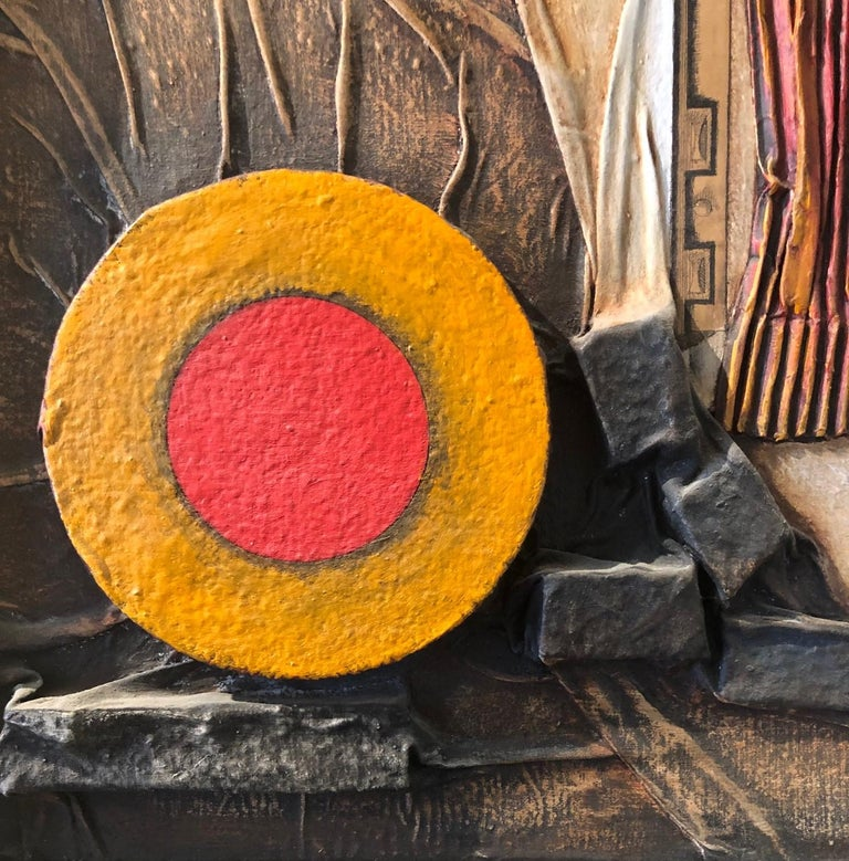Mid-Century Modern Mixed Media Three Dimensional Abstract by Angela Kosta For Sale 1