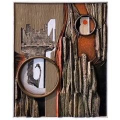 Mid-Century Modern Mixed-Media Three Dimensional Abstract by Angela Kosta