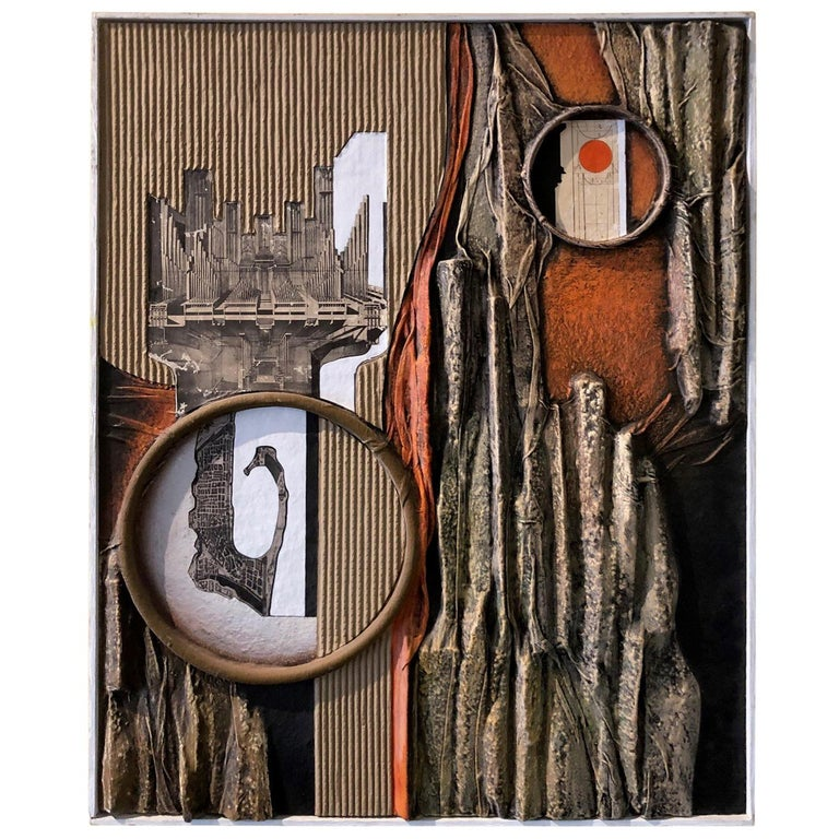 Mid-Century Modern Mixed-Media Three Dimensional Abstract by Angela Kosta For Sale