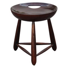 Mid-Century Modern Mocho Stool with Handle in Jacaranda by Sergio Rodrigues Oca