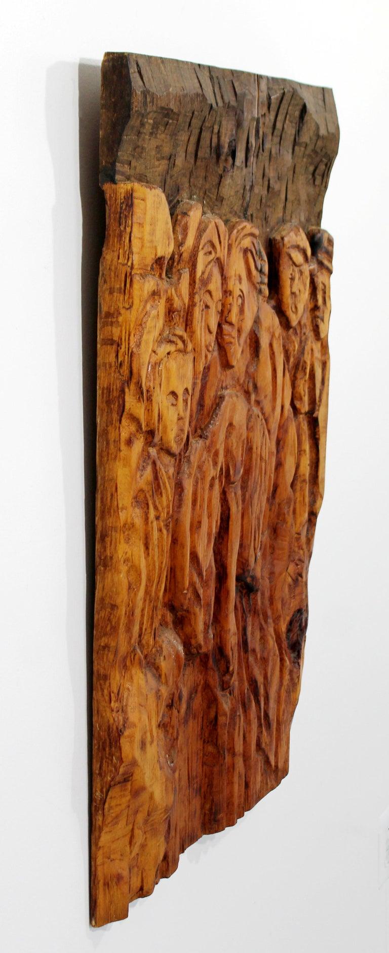 Mid Century Modern Modernist Wood Wall Art Sculpture Relief Jean ...