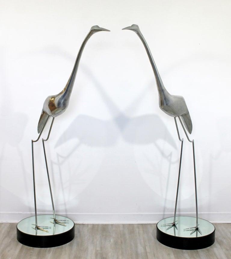 Mid-Century Modern Monumental Curtis Jere Chrome Heron Floor Sculpture, 1970s For Sale 2