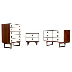 Mid-Century Modern Moroccan Style Brass Spade Pull Bedroom Set by Stanley