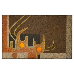 Mid-Century Modern Mosaic Tile Wall Plaque by Raymond Gallucci