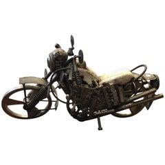 Mid-Century Modern Motorcycle Sculpture