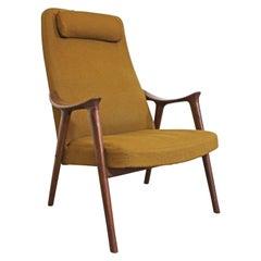 Mid-Century Modern Møre Lenestol Fabrikk Klarinett Teak Lounge Chair