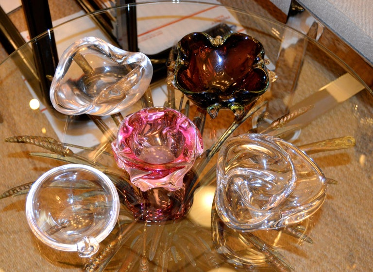 Mid-Century Modern Murano Blown Art Glass Clear Catchall, Bowl, Vide Poche Italy 6