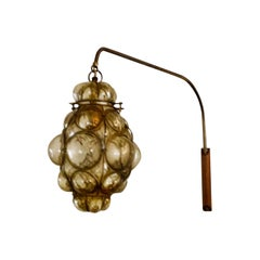 Mid-Century Modern Murano Caged Glass Wall Light, Sconce, Reading Lamp, 1960s