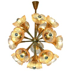 Mid-Century Modern Murano Chandelier in the Style of Gaetano Sciolari, 1960s