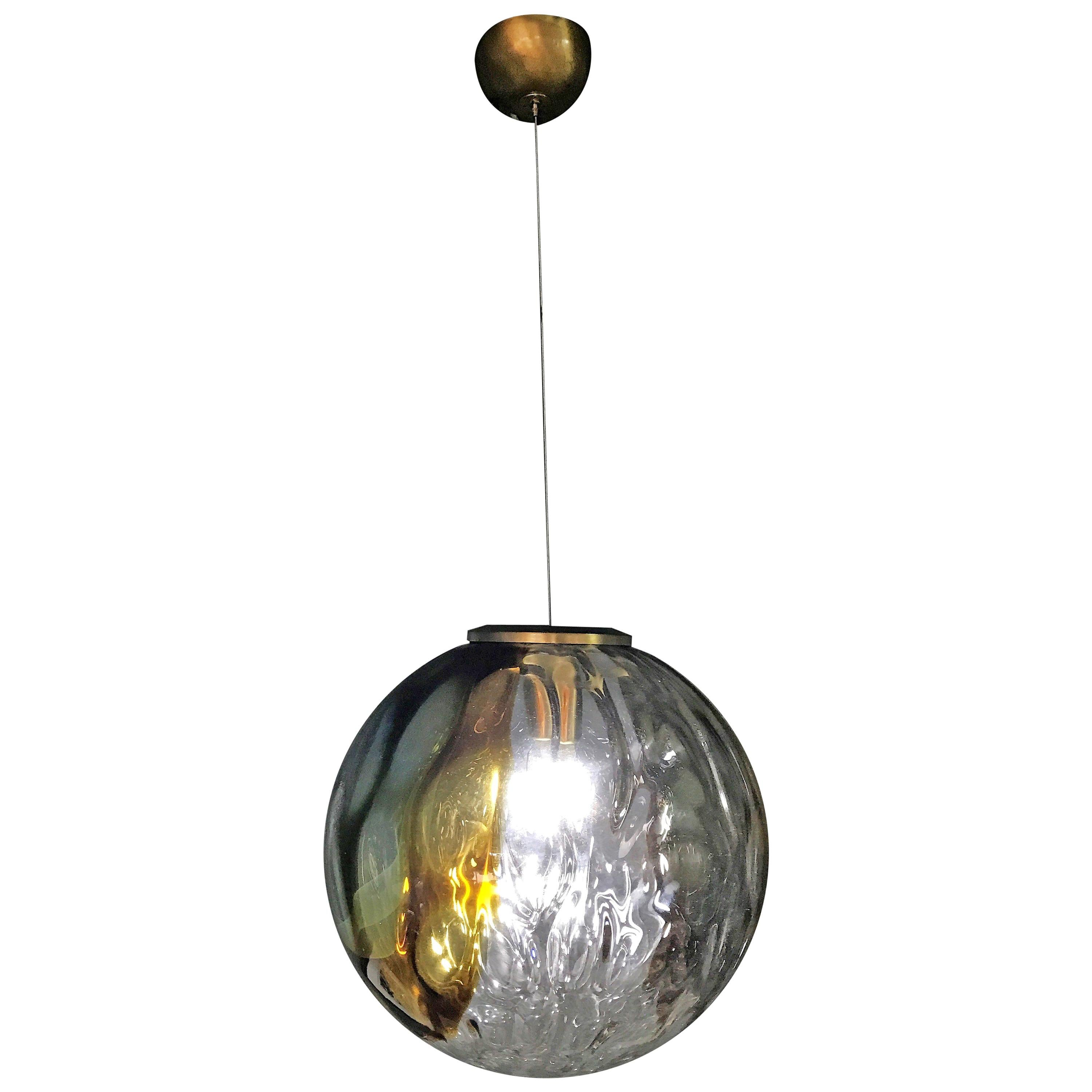 Two Mid-Century Modern Murano Glass Chandelier by Venini Art Glass VeArt, 1970s