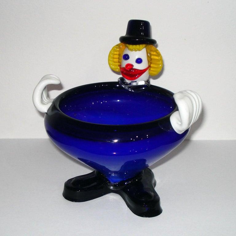 Mid-Century Modern Murano Glass Clown, Italy, circa 1960s For Sale 5