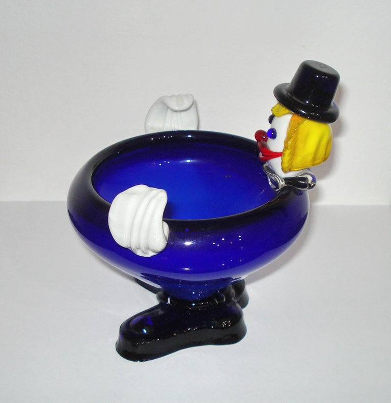 Mid-Century Modern Murano Glass Clown, Italy, circa 1960s For Sale 8