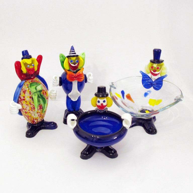Mid-Century Moderne, Muranoglas, Clown, Italien, ca. 1960er Jahre 8