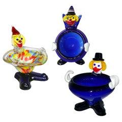 Mid-Century Modern Murano Glass Clown, Italy, circa 1960s