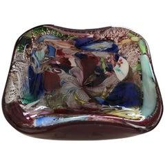 Mid-Century Modern Murano Glass Dish by Arte Vetraria Muranese 'AVEM'