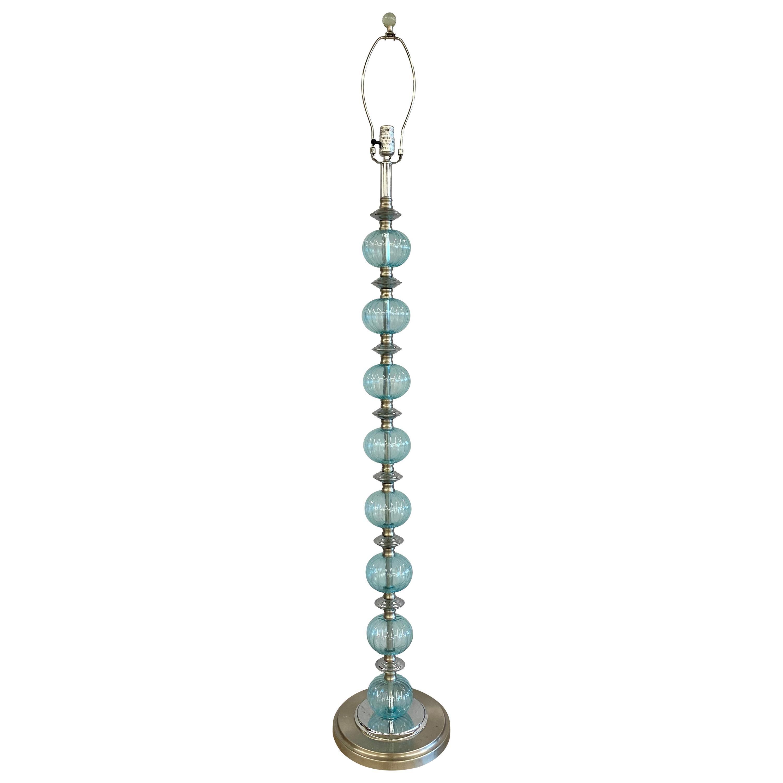 Mid-Century Modern Murano Glass Standing Floor Lamp