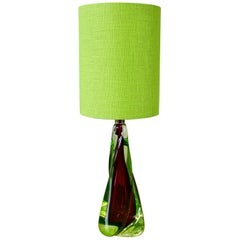 Mid-Century Modern Murano Glass Table Lamp
