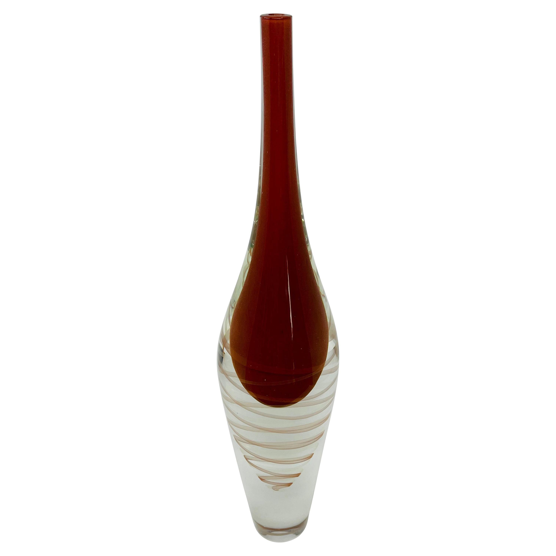 Mid-Century Modern Murano Glass Vase by Seguso, Vetri d'Arte, 1960s