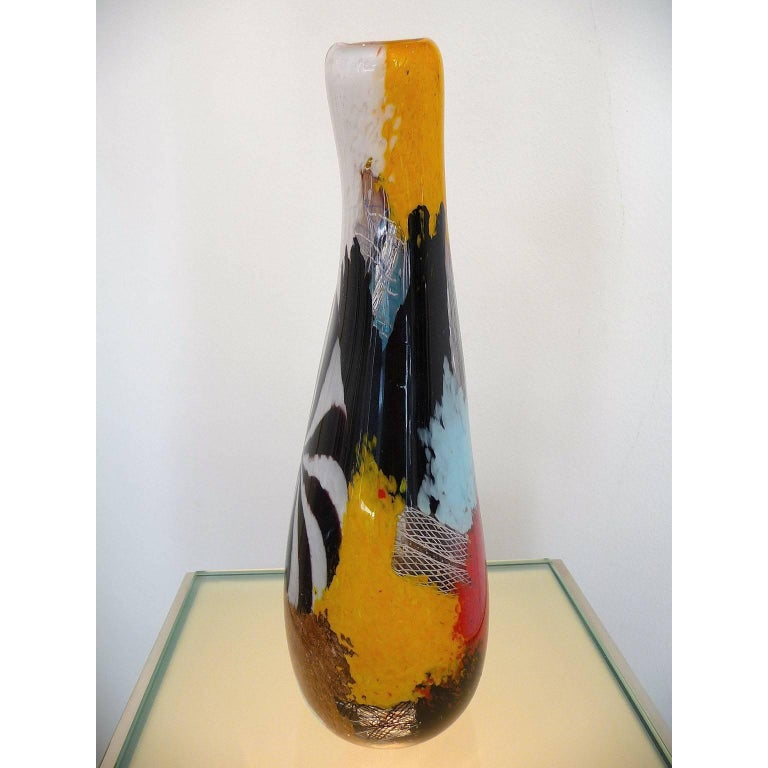 Mid-Century Modern Murano Glass Vase Dino Martens, Oriente Firenzio In Excellent Condition For Sale In Bochum, NRW