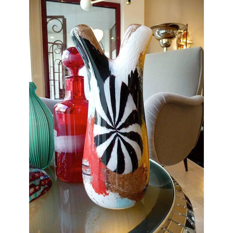 Mid-Century Modern Murano Glass Vase Dino Martens, Oriente Firenzio For Sale 2