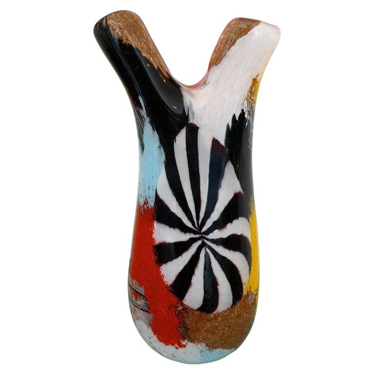 Mid-Century Modern Murano Glass Vase Dino Martens, Oriente Firenzio For Sale