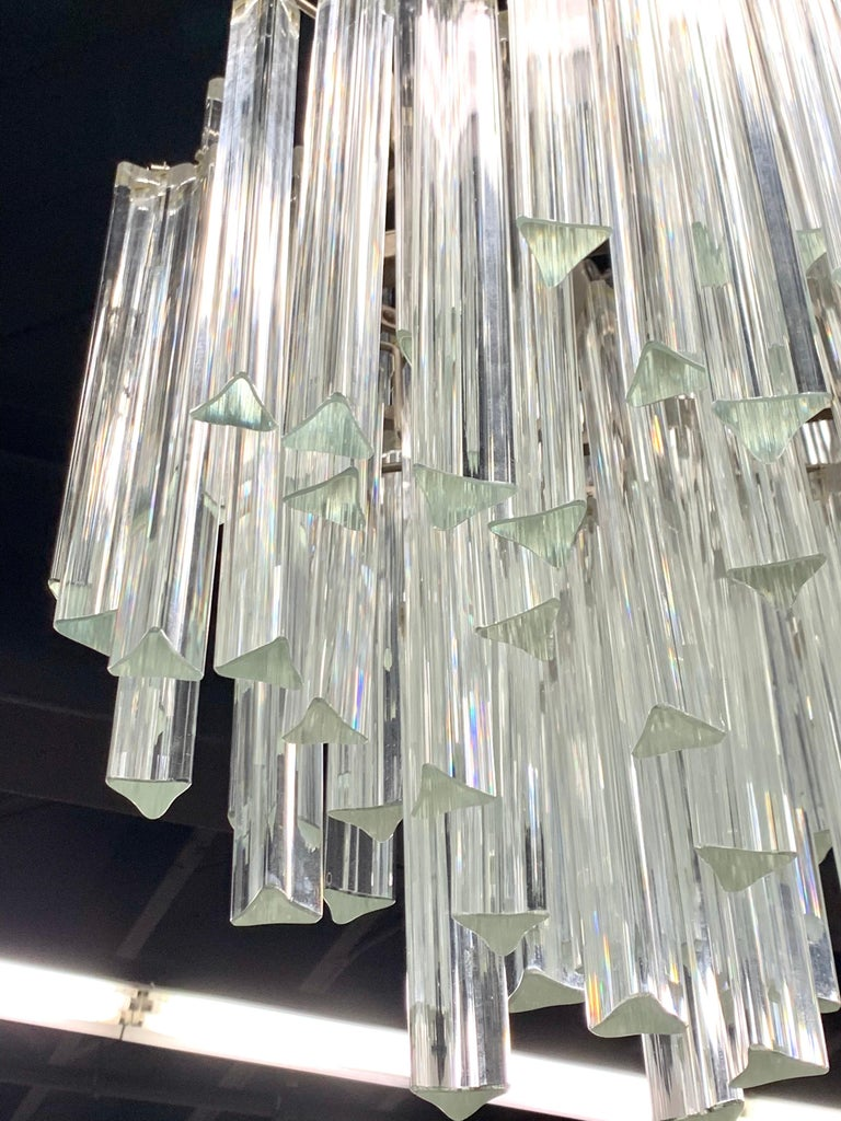 Mid-Century Modern Murano Italy Camer Glass Chandelier 1