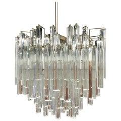 Mid-Century Modern Murano Italy Camer Glass Chandelier