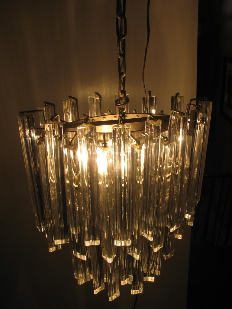 Italian Mid-Century Modern Murano Oval Chandelier by Camer For Sale