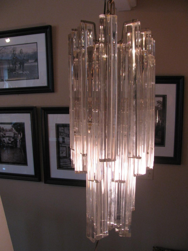 Mid-Century Modern Murano Oval Chandelier by Camer In Good Condition For Sale In Port Jervis, NY