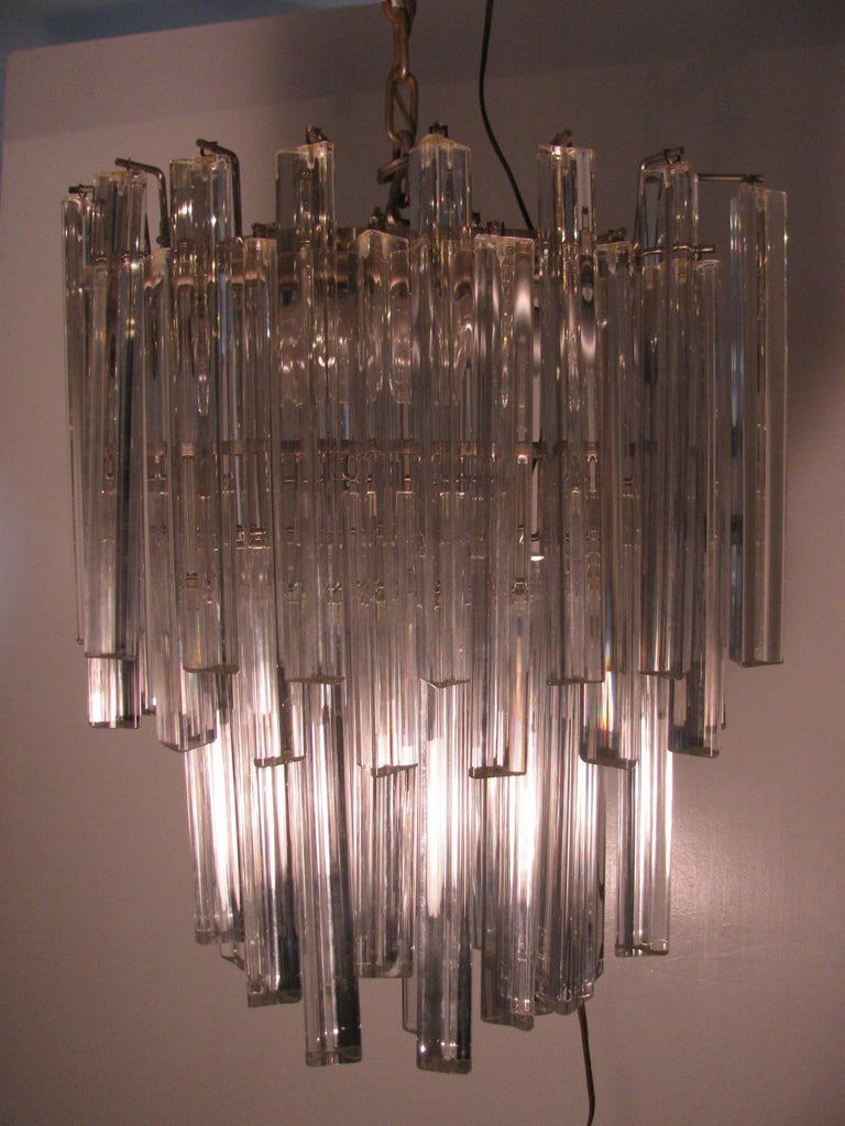 Mid-Century Modern Murano Oval Chandelier by Camer For Sale 1
