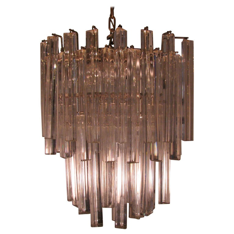 Mid-Century Modern Murano Oval Chandelier by Camer For Sale