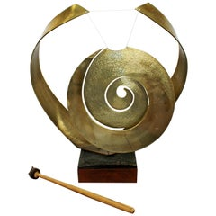 Mid-Century Modern Nani Bronze Sonambient Gong Table Sculpture