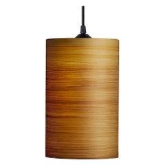 Mid-Century Modern Natural Cypress Wood Veneer Pendant, Limited Edition