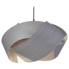 Mid-Century Modern Natural Gray Wood Pendant
