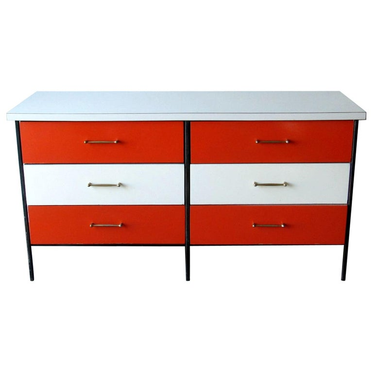 Mid-Century Modern Nelson Style Chest of Drawers Vista of California For Sale
