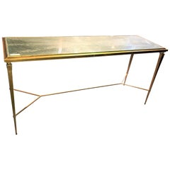 Mid-Century Modern Neoclassical Console Table