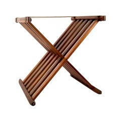 Mid-Century Modern Neoclassical Style Teak Wood Stand