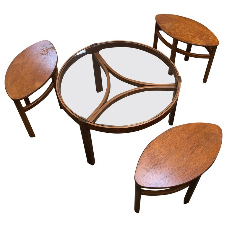 Cool Mid Century Modern Nesting Table Seat Or Stool Set By Evergreenethics Interior Chair Design Evergreenethicsorg