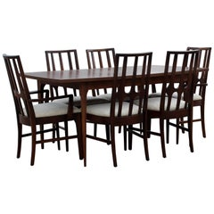 Mid-Century Modern Niemeyer Broyhill Brasilia Dining Set Table Six Chairs, 1960s