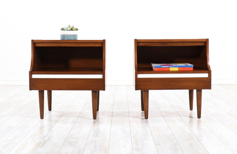 Mid-Century Modern nightstands by American of Martinsville.