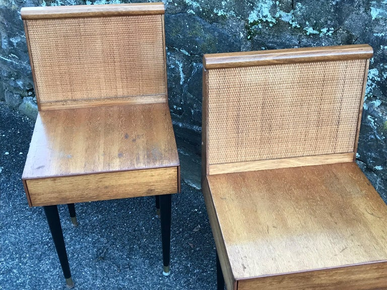 American Mid-Century Modern Nightstands by John Keal for Brown Saltman, 1950s For Sale